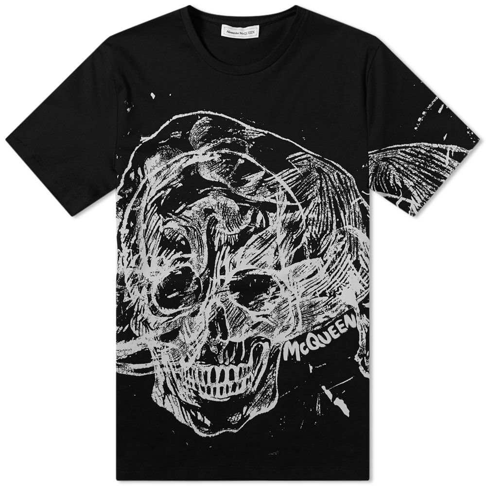 アレキサンダー マックイーン Alexander McQueen メンズ Tシャツ トップス【Scribble Skull Tee】Black