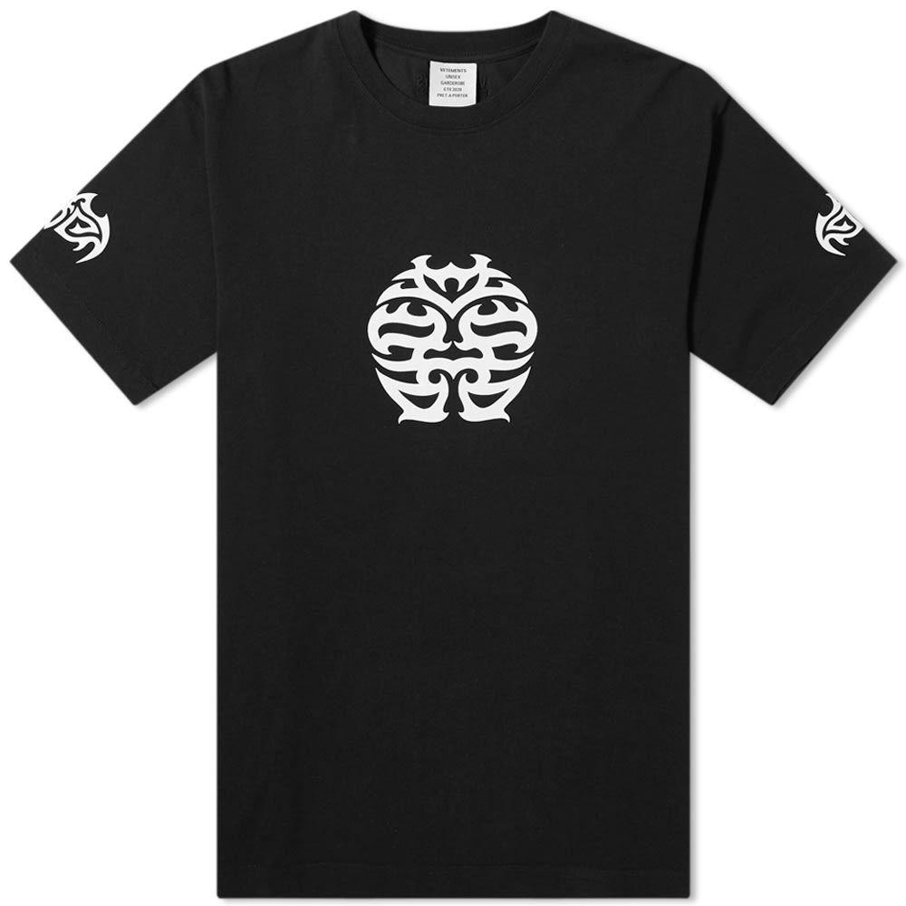 ヴェトモン VETEMENTS メンズ Tシャツ トップス【Double Happiness Tee】Black