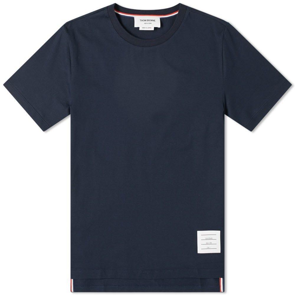 トム ブラウン Thom Browne メンズ Tシャツ トップス【Side Split Classic Tee】Navy