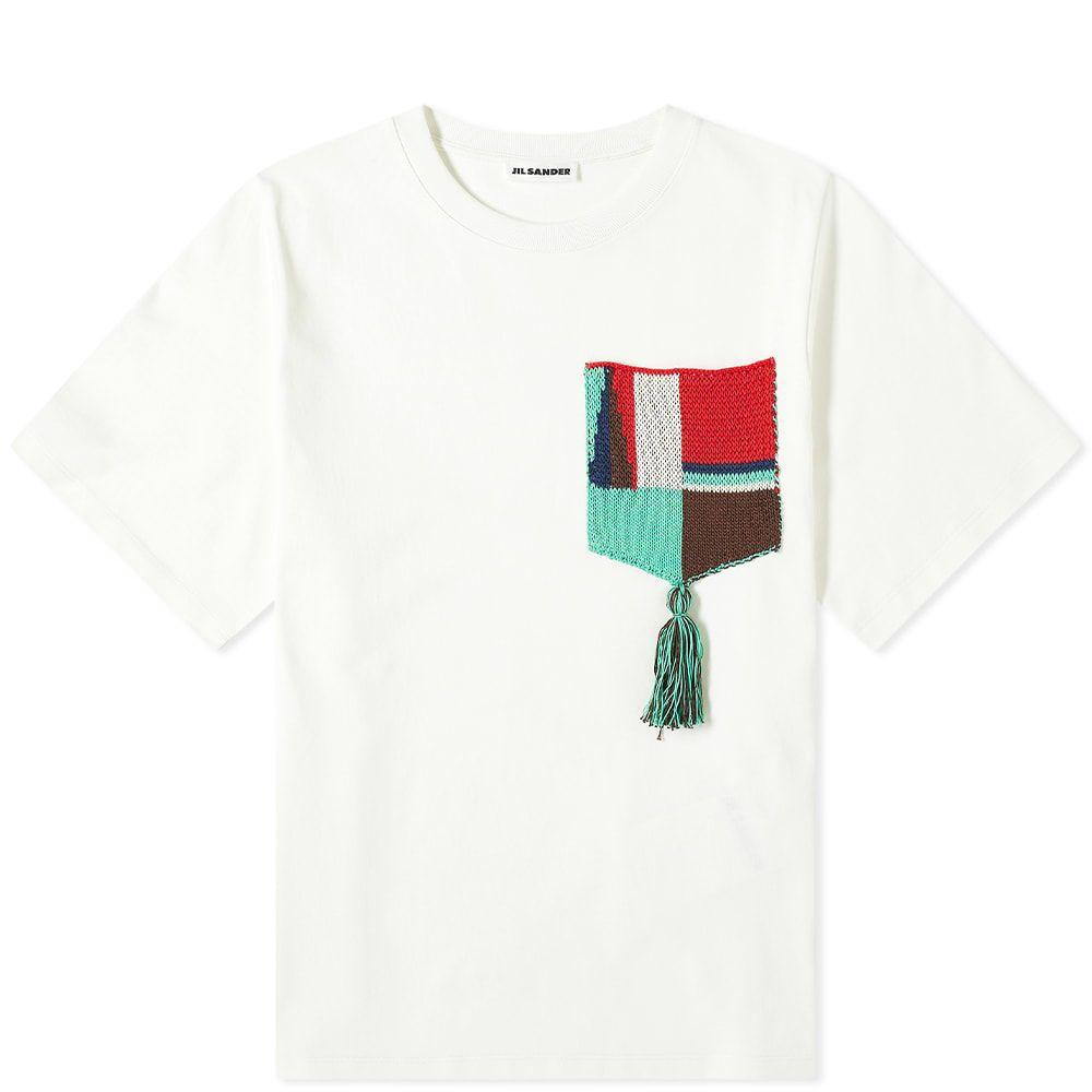 ジル サンダー Jil Sander メンズ Tシャツ ポケット トップス【Pocket Detail Tee】Cream White