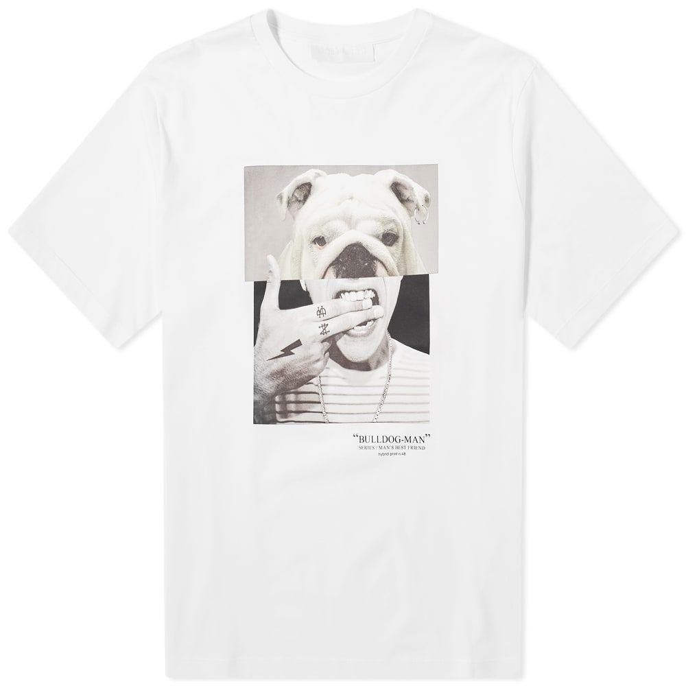 ニール バレット Neil Barrett メンズ Tシャツ トップス【Bulldog Man Tee】White