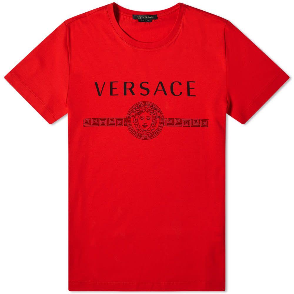 ヴェルサーチ Versace メンズ Tシャツ ロゴTシャツ トップス【Classic Logo Tee】Rosso