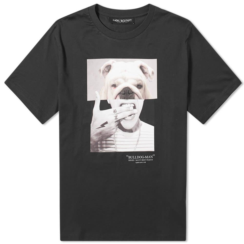 ニール バレット Neil Barrett メンズ Tシャツ トップス【Bulldog Man Tee】Black