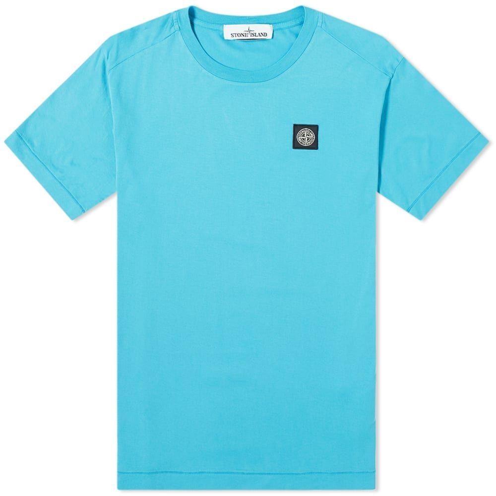 ストーンアイランド Stone Island メンズ Tシャツ ロゴTシャツ トップス【Garment Dyed Patch Logo Tee】Turquoise