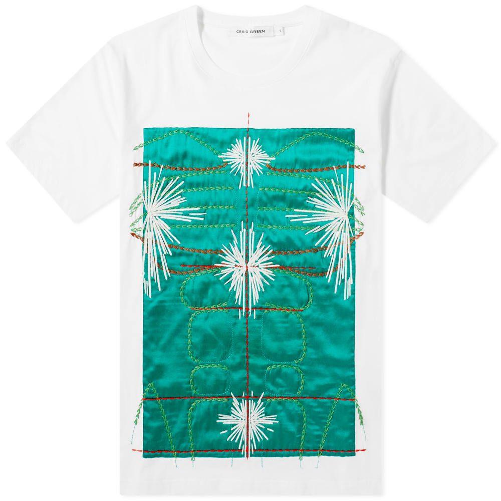 クレイググリーン Craig Green メンズ Tシャツ トップス【Embroidered Body Tee】Green