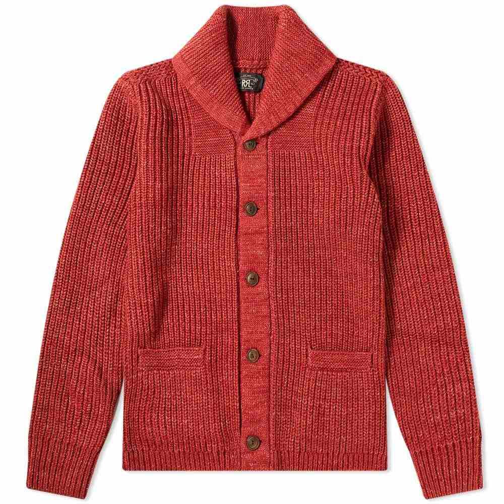 RRL メンズ カーディガン トップス【Shawl Collar Cardigan】Red