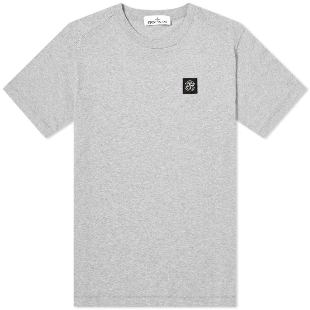 ストーンアイランド Stone Island メンズ Tシャツ ロゴTシャツ トップス【Garment Dyed Patch Logo Tee】Grey Marl