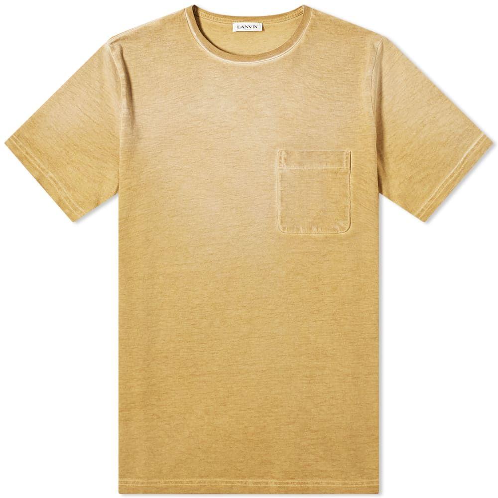 ランバン Lanvin メンズ Tシャツ ポケット トップス【Garment Dyed Pocket Tee】Sand