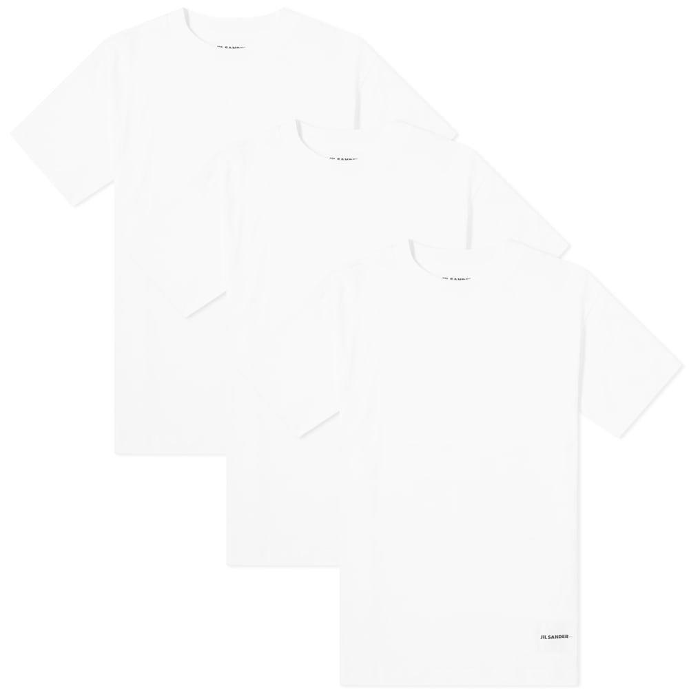 ジル サンダー Jil Sander+ メンズ Tシャツ 3点セット トップス【Regular Fit Tee - 3 Pack】White