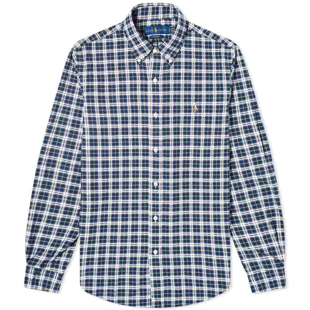 ラルフ ローレン Polo Ralph Lauren メンズ シャツ トップス【Custom Fit Check Button Down Shirt】Navy/White Multi