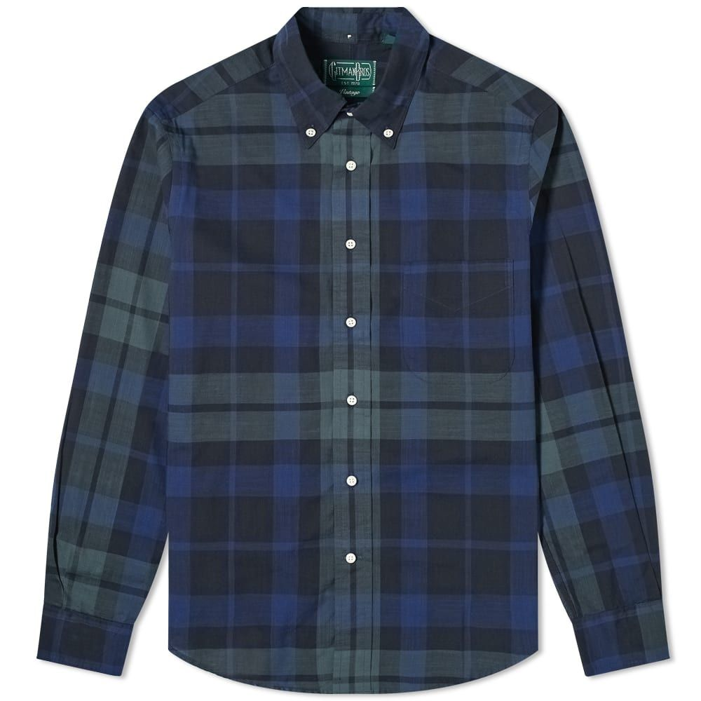 ギットマンヴィンテージ Gitman Vintage メンズ シャツ トップス【Button Down Archive Madras Shirt】Black Watch
