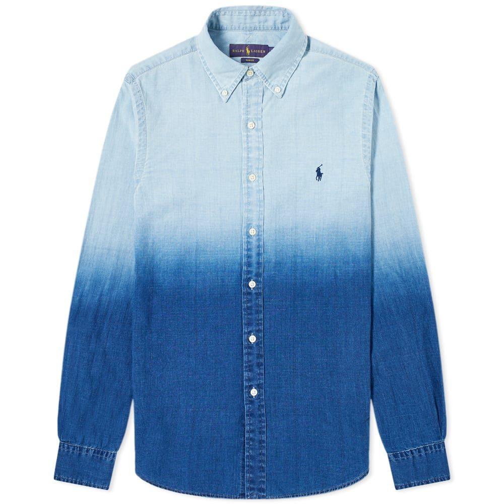 ラルフ ローレン Polo Ralph Lauren メンズ シャツ トップス【Dip Dye Poplin Button Down Shirt】Blue