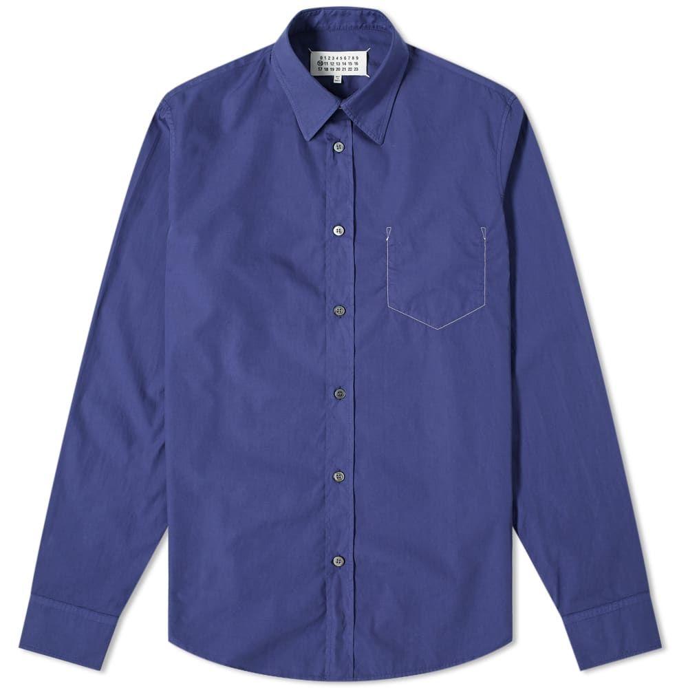 メゾン マルジェラ Maison Margiela メンズ シャツ トップス【10 Dyed Shirt】Violet Indigo