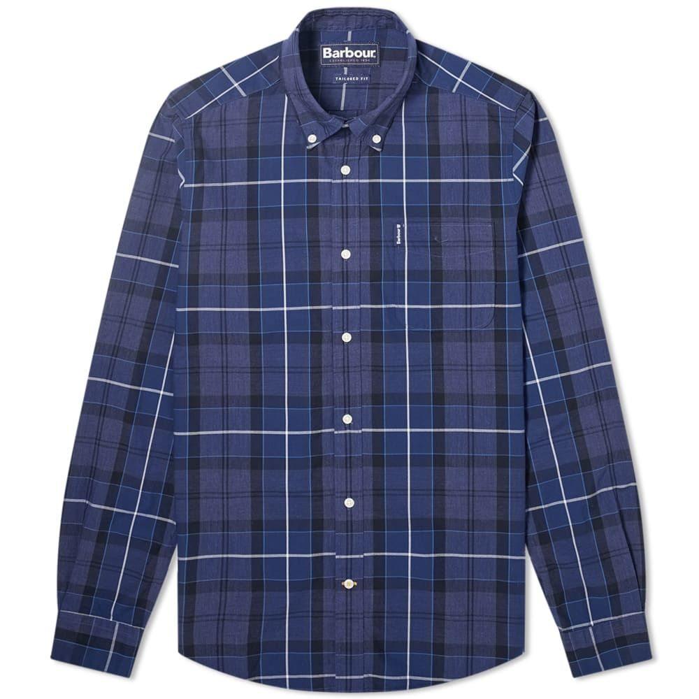 バブアー Barbour メンズ シャツ トップス【Sandwood Tartan Shirt】Inky Blue