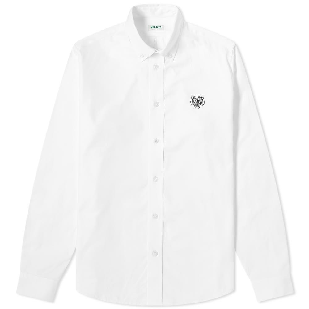 ケンゾー Kenzo メンズ シャツ トップス【Button Down Tiger Twill Shirt】White