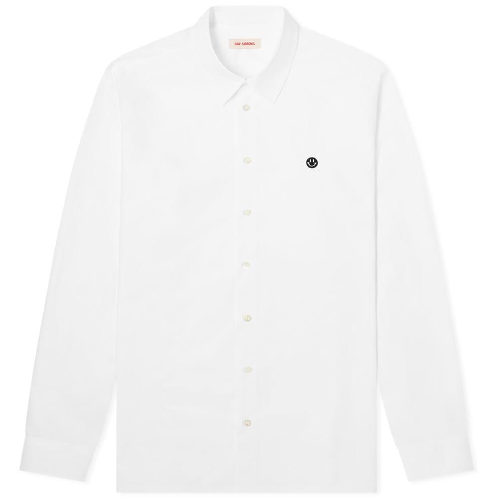 ラフ シモンズ Raf Simons メンズ シャツ トップス【Embroidered Smiley Regular Fit Shirt】White