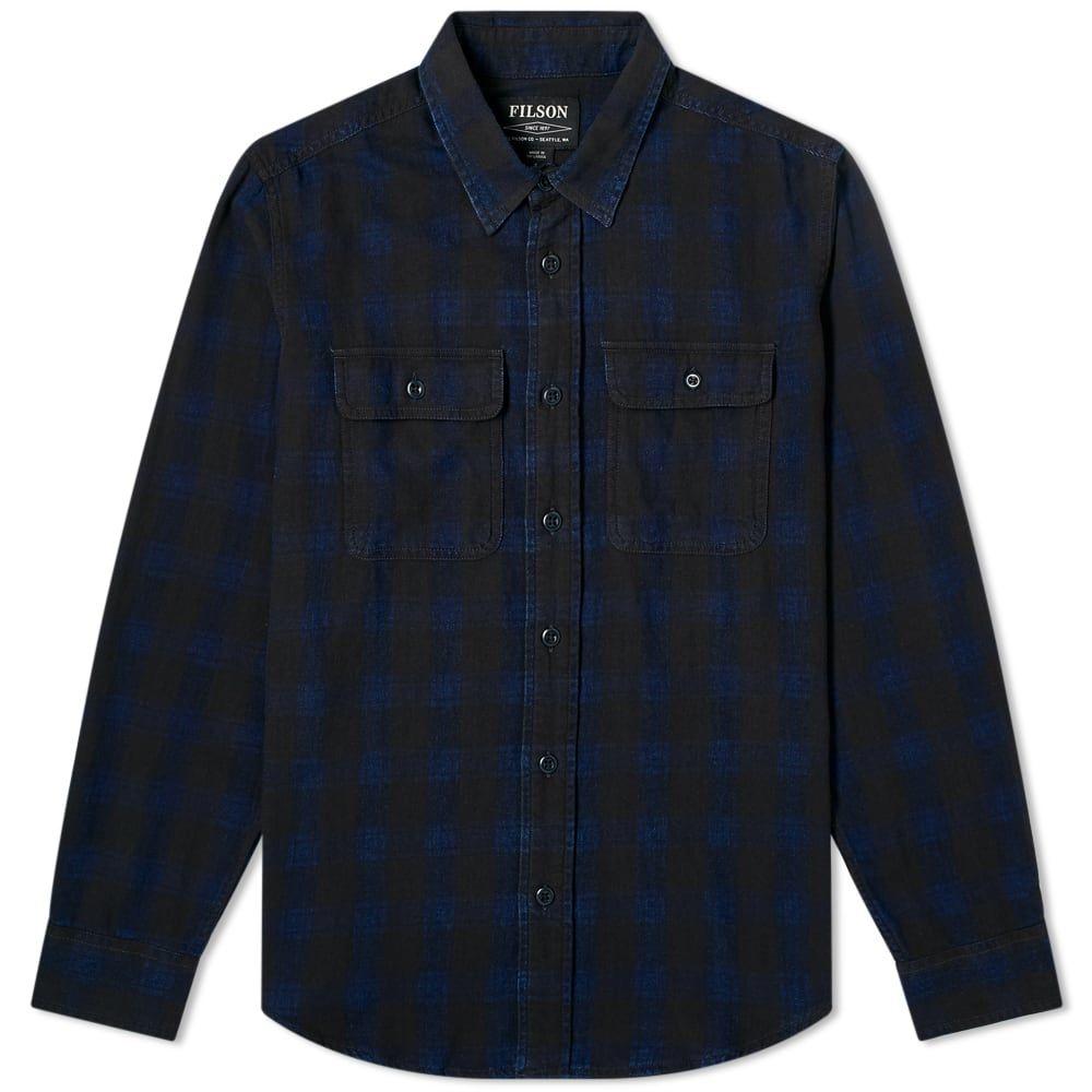 フィルソン Filson メンズ シャツ トップス【Checked Scout Shirt】Black/Indigo