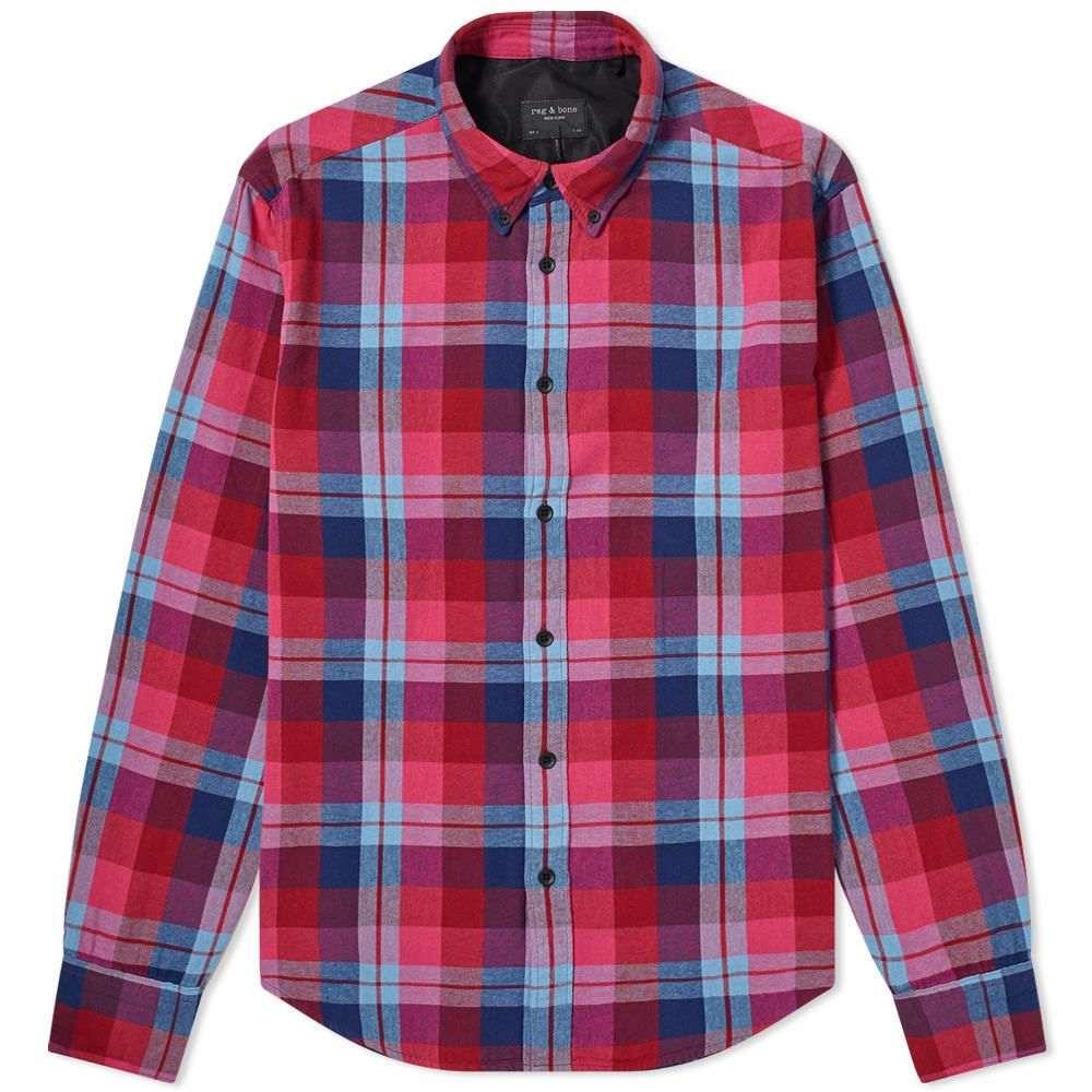 ラグ&ボーン Rag & Bone メンズ シャツ トップス【Fit 2 Tomlin Check Shirt】Burgundy/Multi