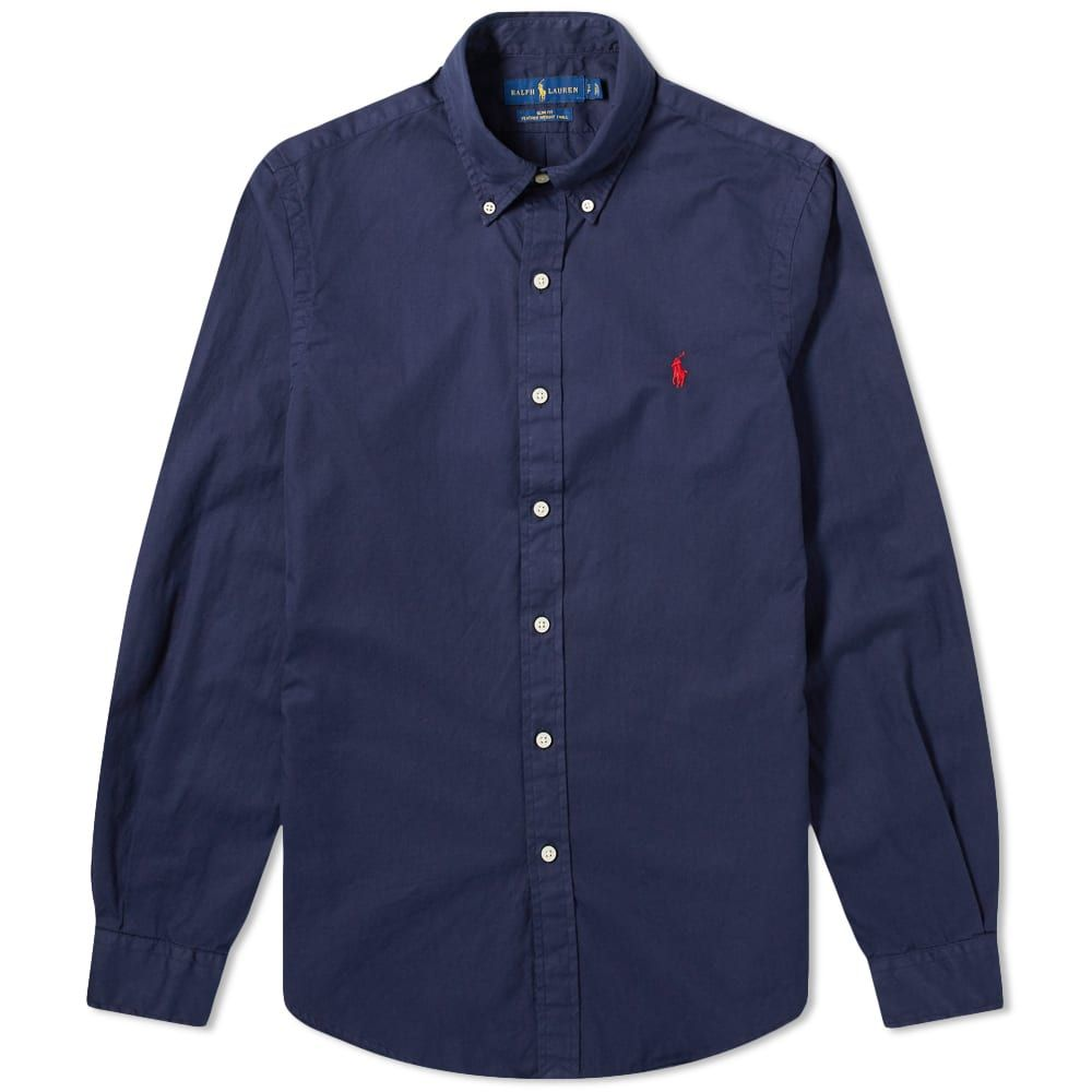 ラルフ ローレン Polo Ralph Lauren メンズ シャツ トップス【Garment Dyed Button Down Shirt】Cruise Navy