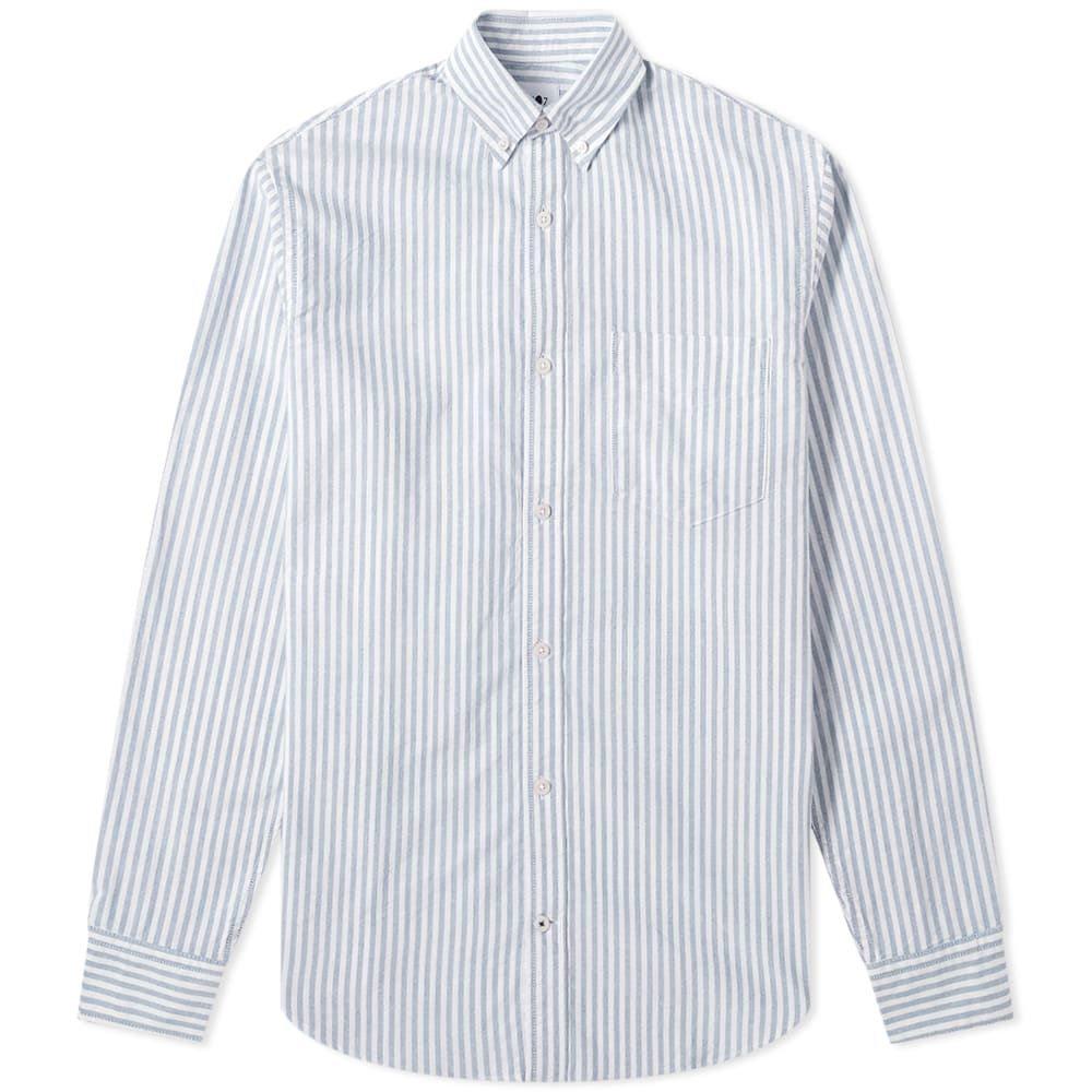 NN07 メンズ シャツ トップス【Levon Button Down Oxford Shirt】Blue Stripe