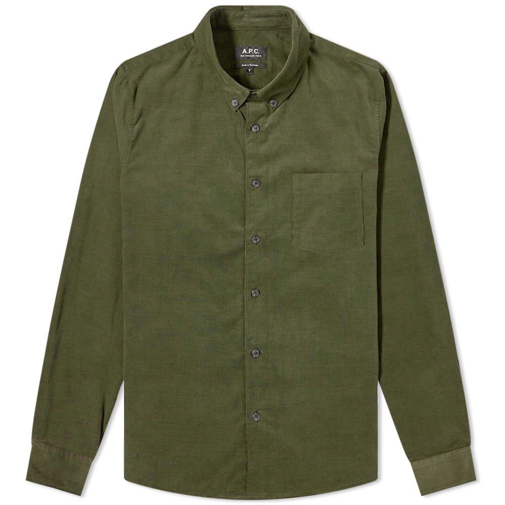 アーペーセー A.P.C. メンズ シャツ トップス【Serges Baby Cord Shirt】Olive