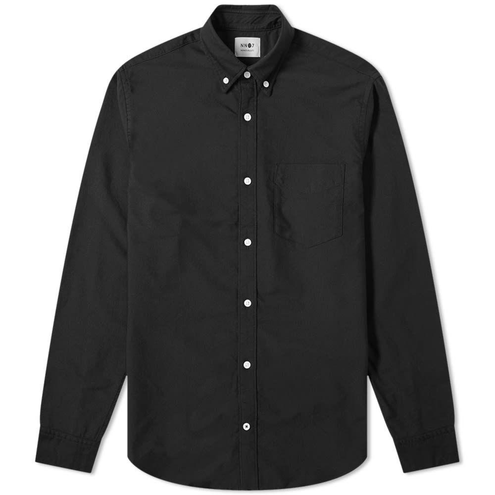 NN07 メンズ シャツ トップス【Levon Button Down Oxford Shirt】Black