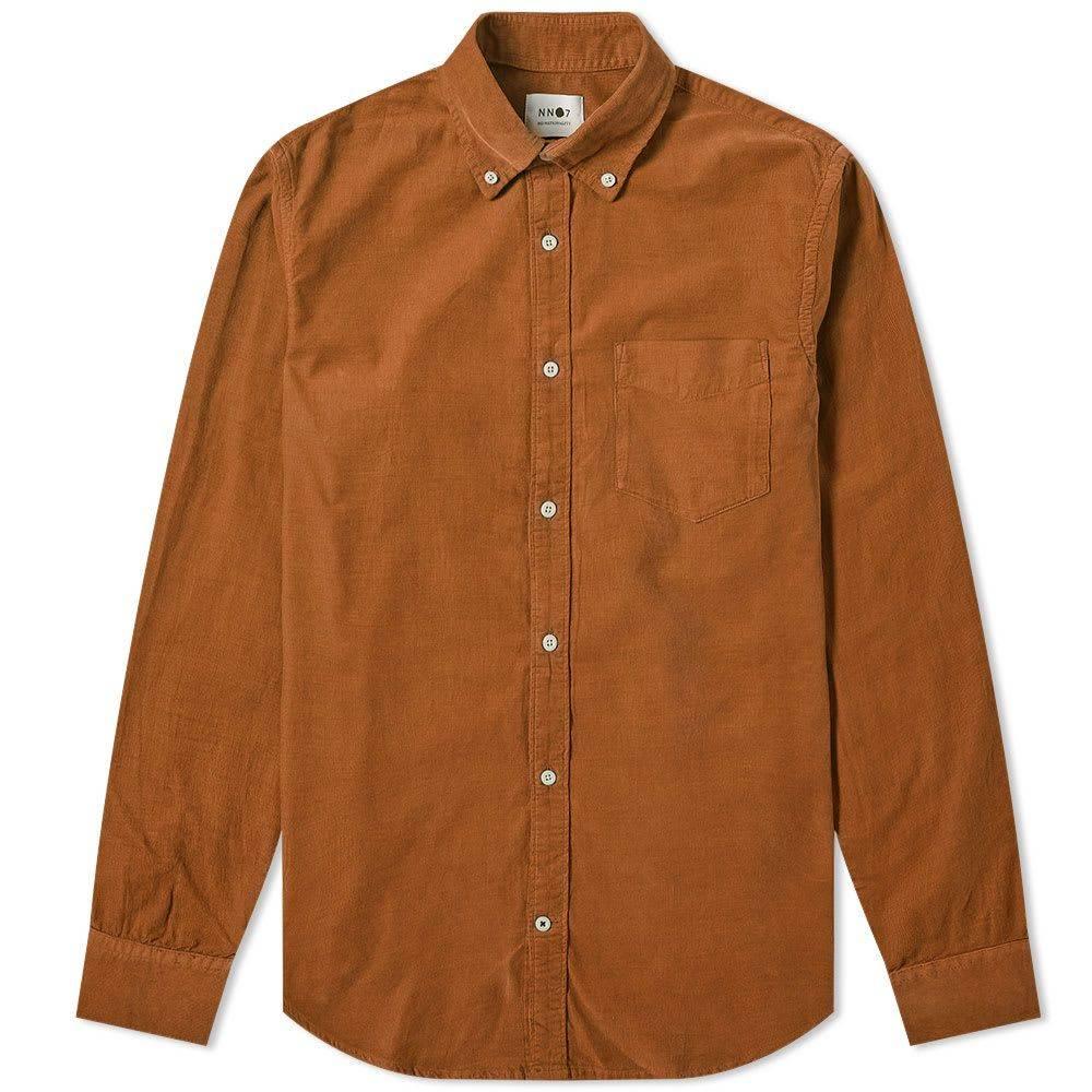 NN07 メンズ シャツ トップス【Levon Baby Cord Shirt】Canela Brown