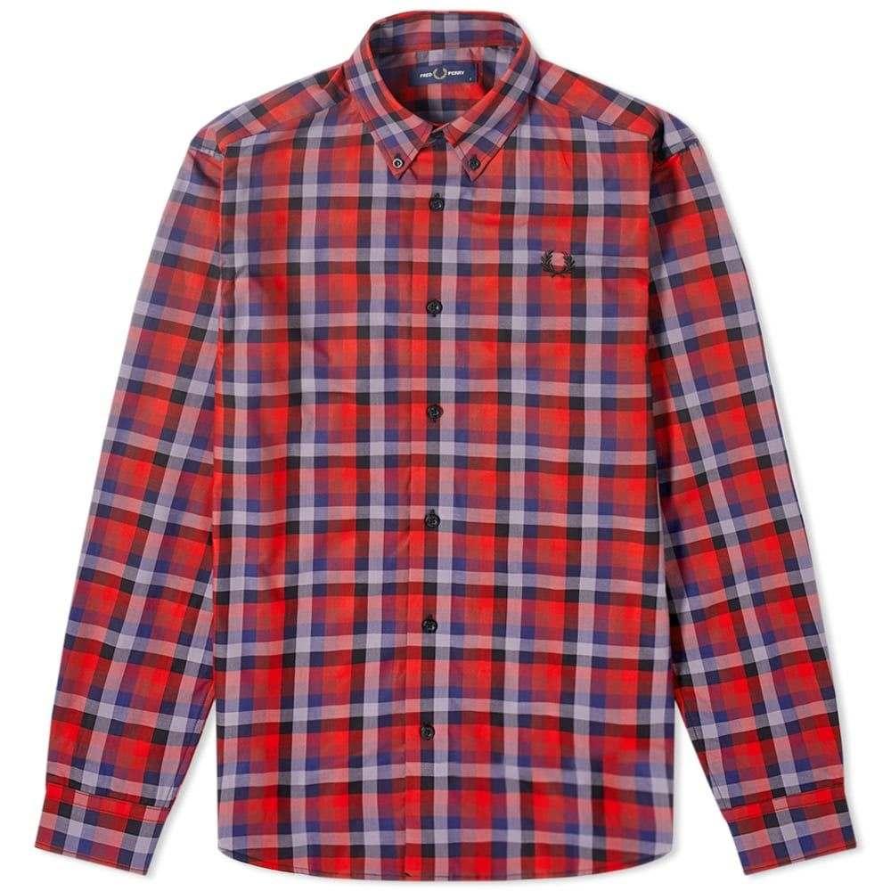 フレッドペリー Fred Perry Authentic メンズ シャツ トップス【Multi Check Gingham Shirt】Red