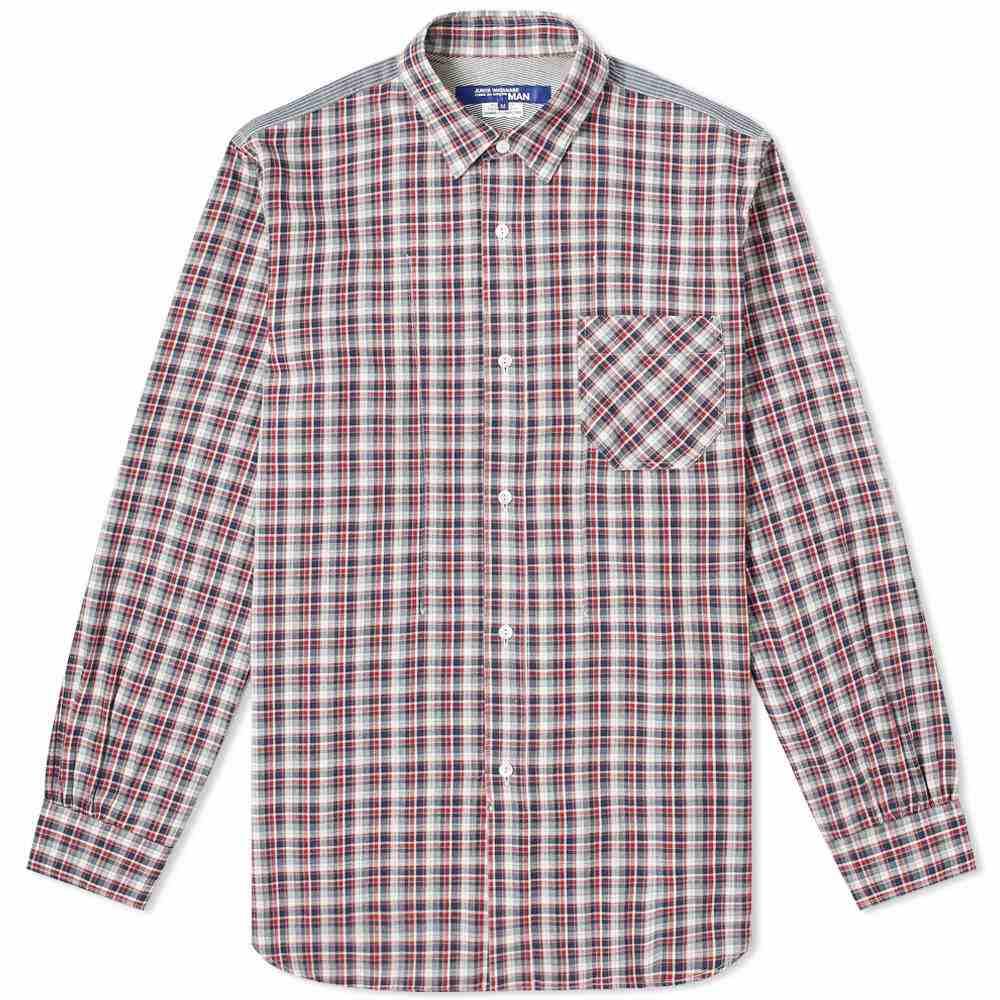 ジュンヤ ワタナベ Junya Watanabe MAN メンズ シャツ シャンブレーシャツ トップス【Check Chambray Shirt】White/Navy/Red