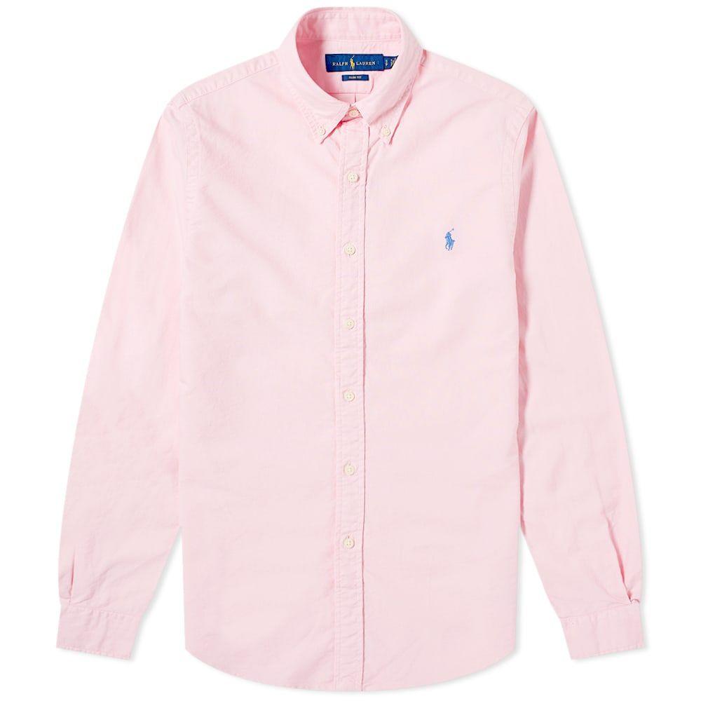 ラルフ ローレン Polo Ralph Lauren メンズ シャツ トップス【Slim Fit Garment Dyed Button Down Oxford Shirt】Taylor Rose