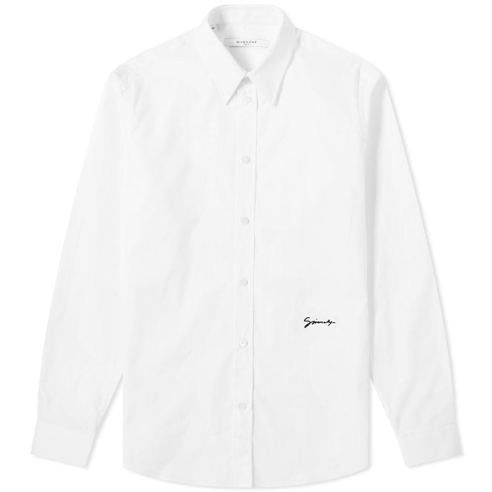 ジバンシー Givenchy メンズ シャツ トップス【Signature Logo Shirt】White/Black