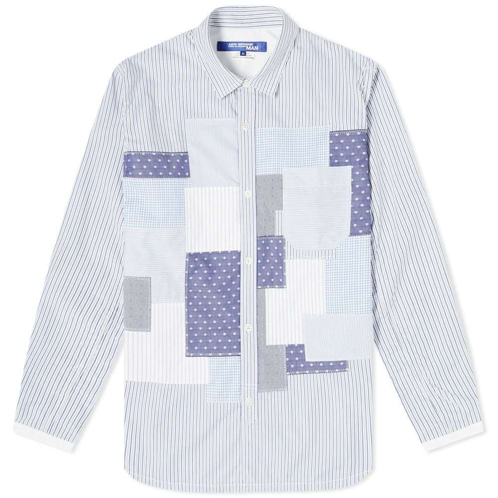 ジュンヤ ワタナベ Junya Watanabe MAN メンズ シャツ トップス【Patchwork Check Shirt】White/Blue/Navy