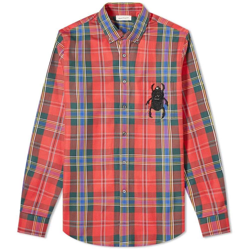 アレキサンダー マックイーン Alexander McQueen メンズ シャツ トップス【Tartan Embroidered Bug Pocket Shirt】Tartan