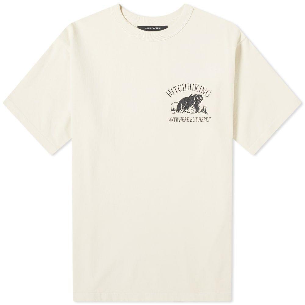 リースクーパー Reese Cooper メンズ Tシャツ トップス【Hitchhiking Tee】Vintage White