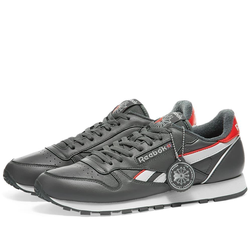 リーボック Reebok メンズ スニーカー シューズ・靴【Classic Leather MU】True Grey/Chalk/Red
