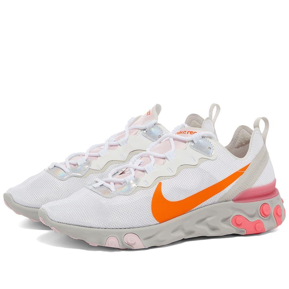 ナイキ Nike レディース スニーカー シューズ・靴【React Element 55 W】White/Crimson/Pink