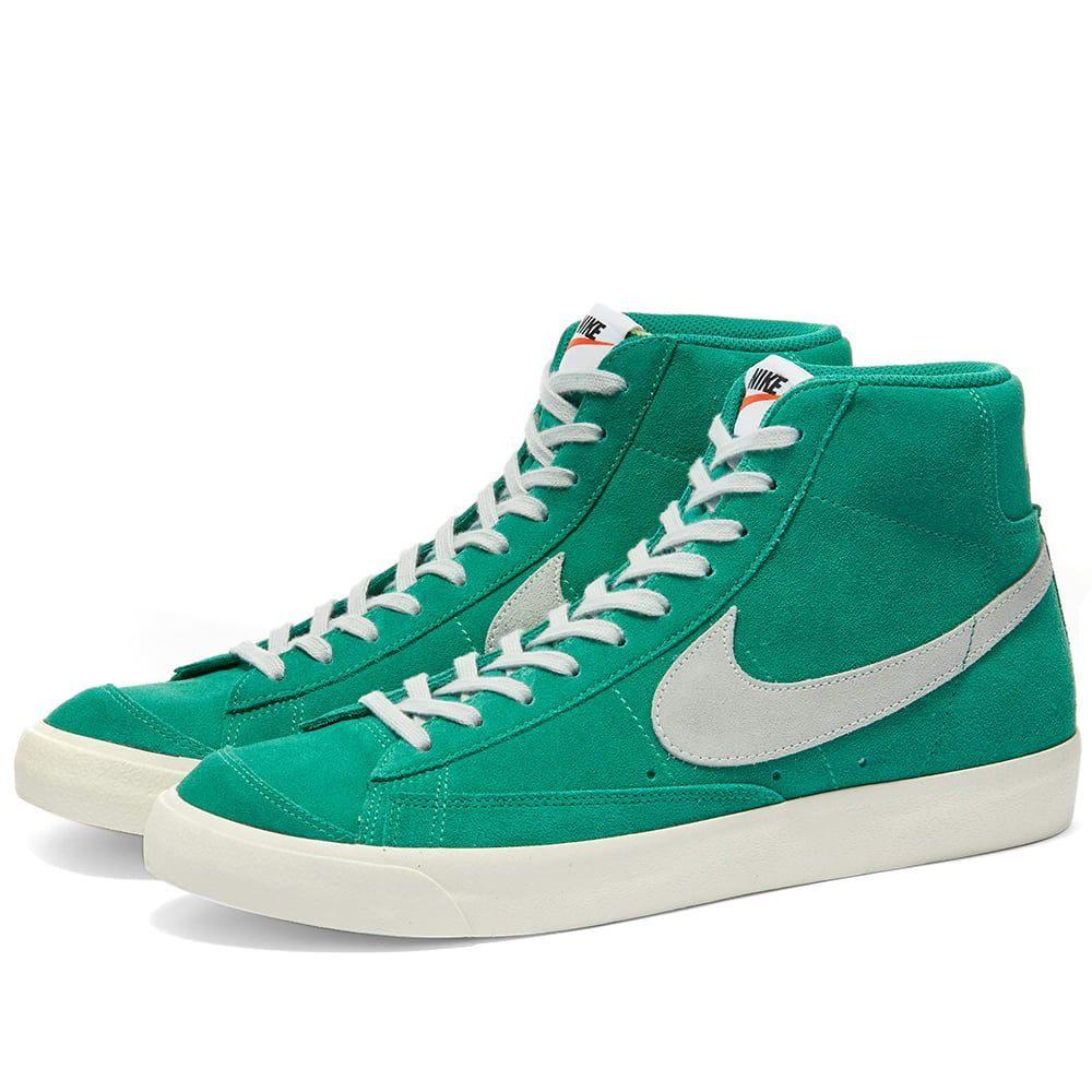 ナイキ Nike メンズ スニーカー シューズ・靴【Blazer Mid '77 Suede】Green/Platinum/Sail