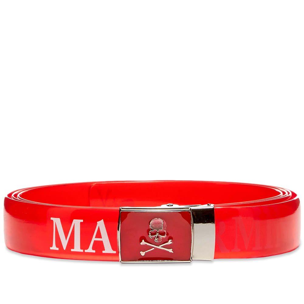 マスターマインド MASTERMIND WORLD メンズ ベルト 【Vinyl Belt】Red