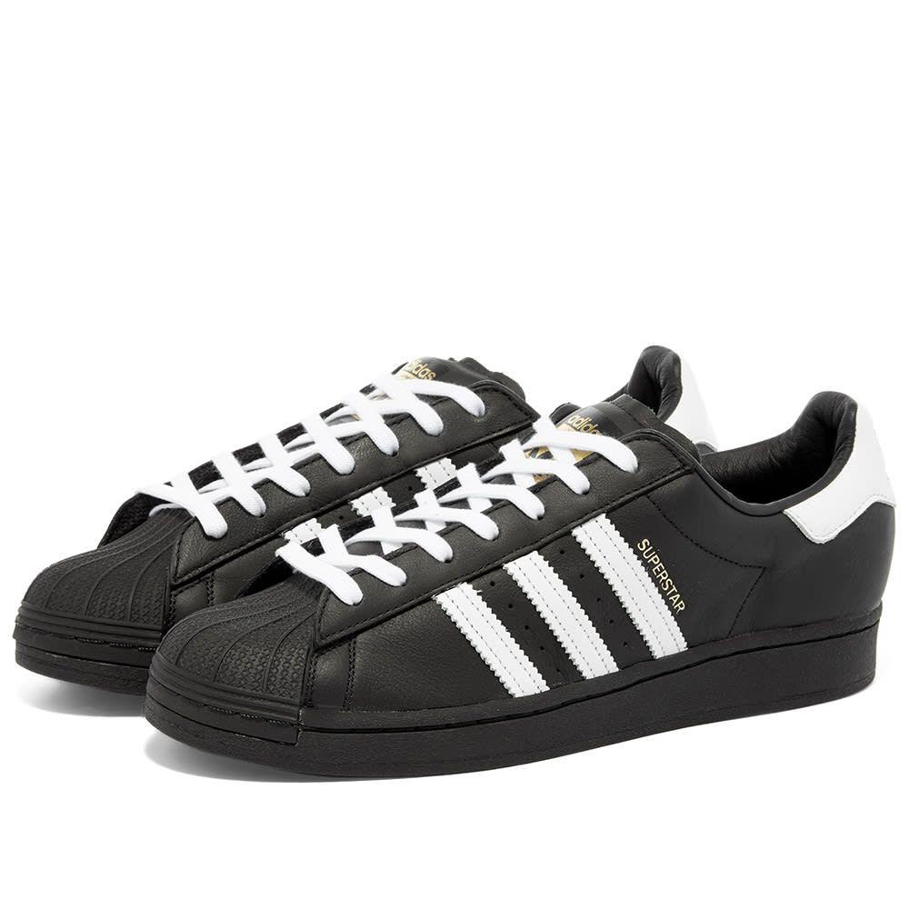 アディダス Adidas メンズ スニーカー シューズ・靴【Superstar Laceless】Black/White/Black