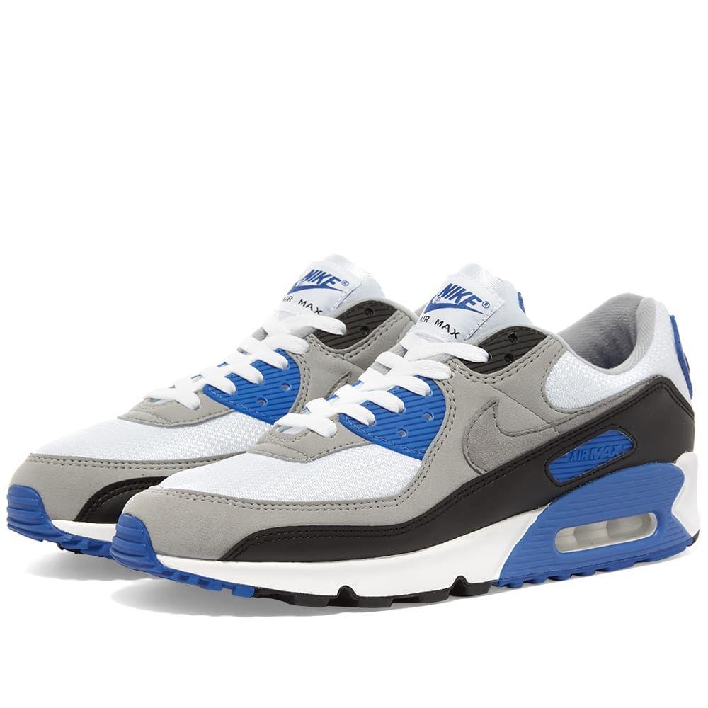 ナイキ Nike メンズ スニーカー エアマックス 90 シューズ・靴【Air Max 90】White/Grey/Royal
