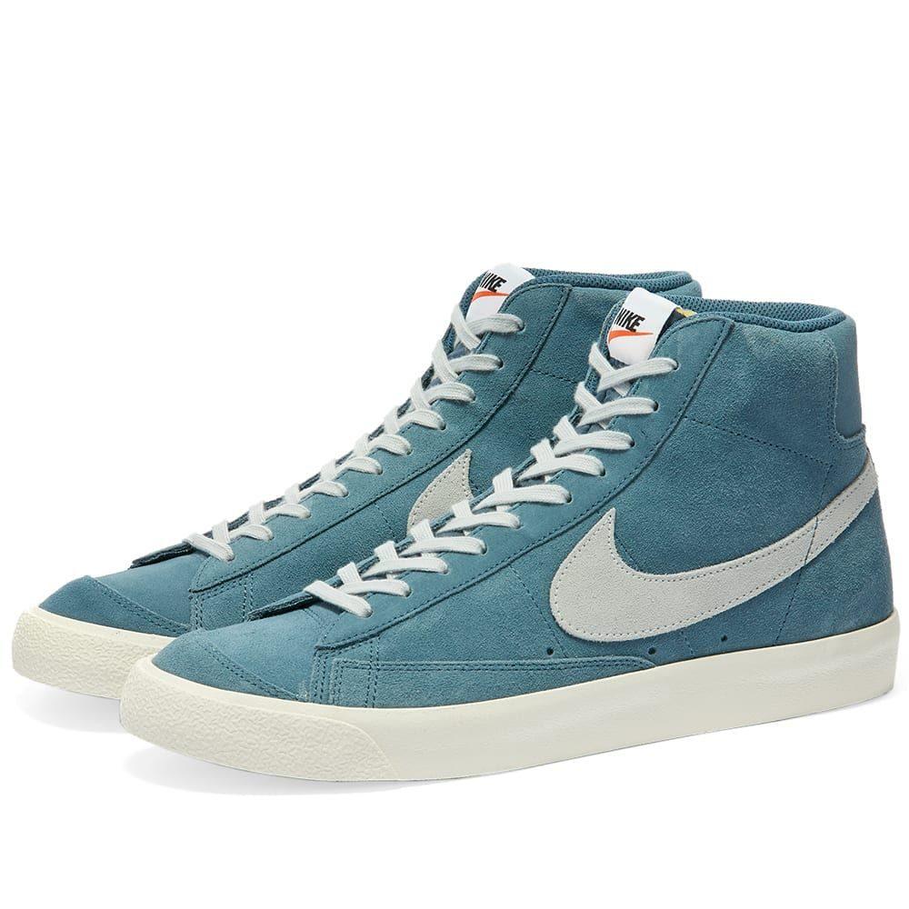 ナイキ Nike メンズ スニーカー シューズ・靴【Blazer Mid '77 Suede】Thunderstorm/Platinum/Sail