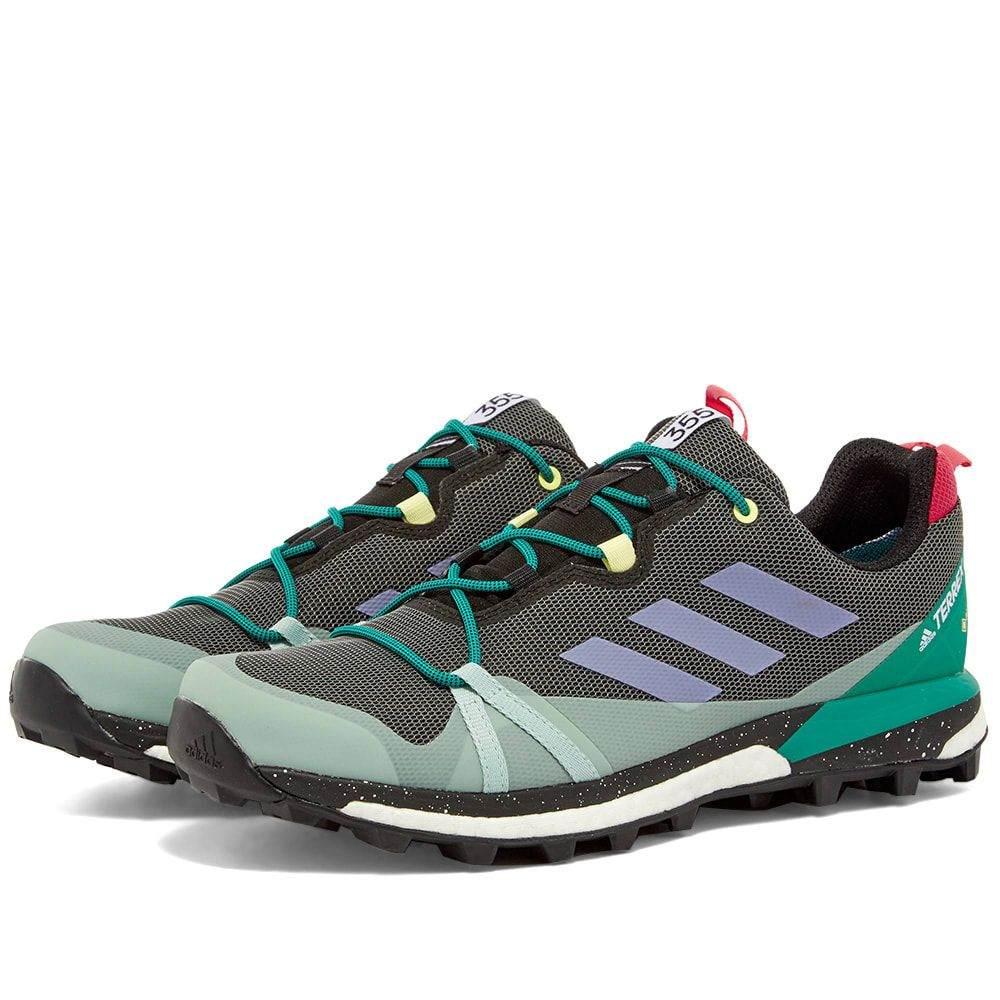 アディダス Adidas メンズ スニーカー シューズ・靴【Terrex Skychaser LT GTX】Black/Purple/Green