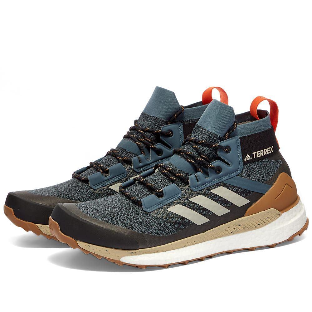 アディダス Adidas メンズ ハイキング・登山 シューズ・靴【Terrex Free Hiker】Blue/Grey/Raw Desert