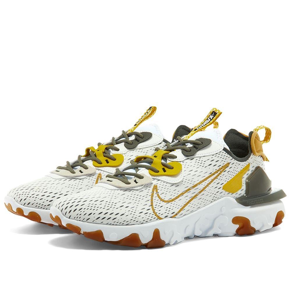 ナイキ Nike メンズ スニーカー シューズ・靴【React Vision】White/Grey/Speed Yellow