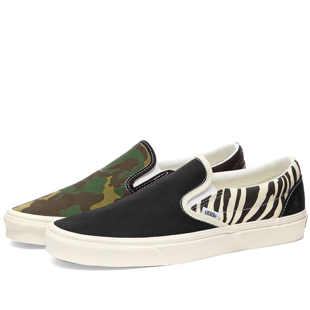 ヴァンズ Vans メンズ スリッポン・フラット シューズ・靴【UA Classic Slip-On】Zebra Camo