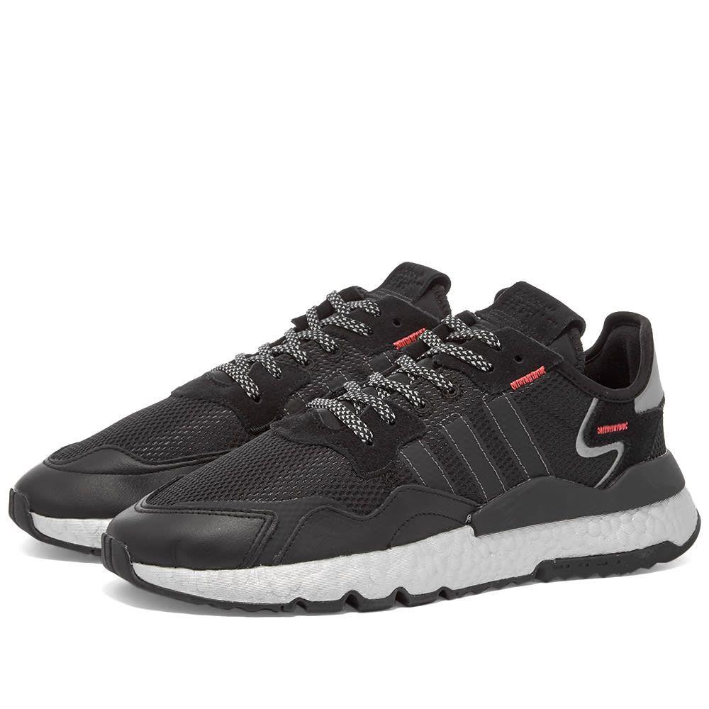 アディダス Adidas レディース スニーカー シューズ・靴【Nite Jogger W】Black/Red/Silver