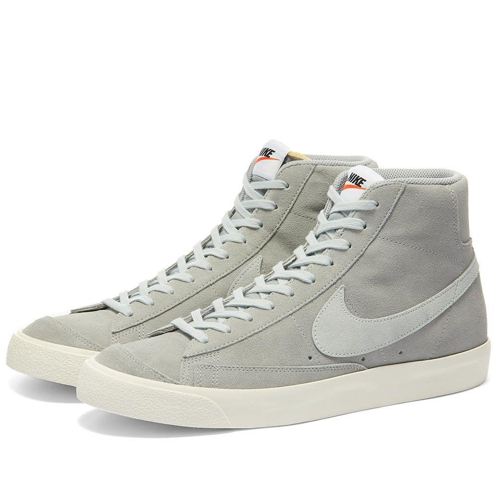 ナイキ Nike メンズ スニーカー シューズ・靴【Blazer Mid '77 Suede】Grey/Platinum/Sail