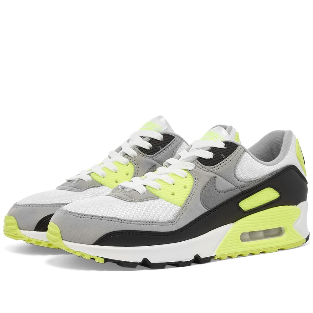 ナイキ Nike メンズ スニーカー エアマックス 90 シューズ・靴【Air Max 90】White/Grey/Volt