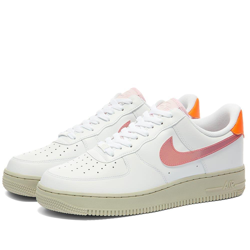 ナイキ Nike レディース スニーカー エアフォースワン シューズ・靴【Air Force 1 07 W】White/Pink