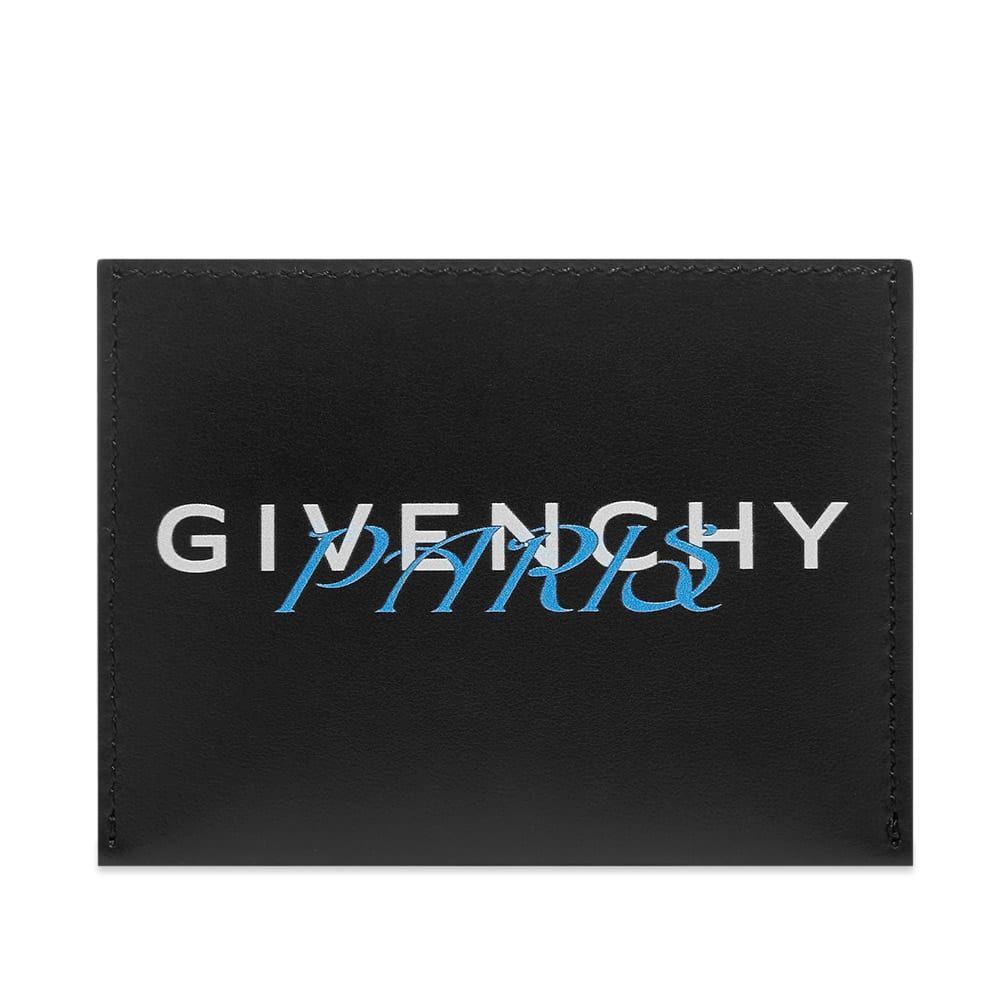 ジバンシー Givenchy メンズ カードケース・名刺入れ カードホルダー【Metallic Logo Card Holder】Black/Blue